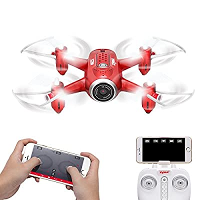 AUKWING Syma X22W Pocket Drone with Camera WIFI FPV Altitude Hold Track flight Gravity Sensor Headless Mode APP Control RTF Quadcopter