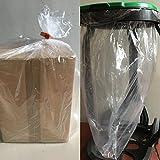 25 SACCHI POLIETILENE PLASTICA TRASPARENTE 82x75 cm (50+16+16x75) 80 litri 25 micron plastica LDPE UTILI PER CONFEZIONAMENTO O RACCOLTA RIFIUTI SICURA (SPAZZATURA VISIBILE)