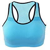 Printong Women Sports Bra One Piece Seamless Full Cup Wireless Bra Mesh Fitness Underwear Elastic Quick-Dry Sports Vest Bra