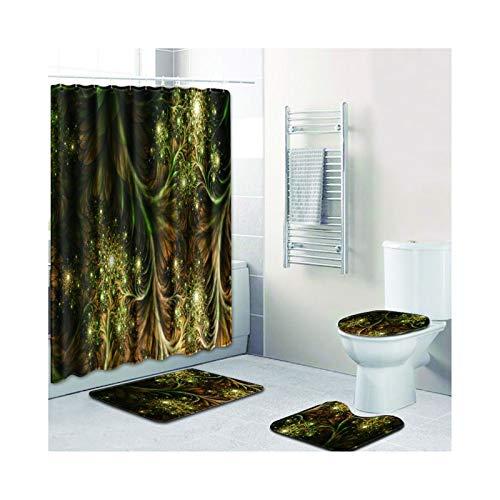 Knbob Badvorleger Set 7 Abstrakte Designs Stil 02 Wc Teppich Toilette 45X75Cm