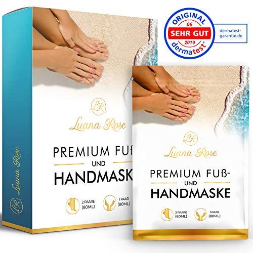 [3 Paar] Fußmaske zur Hornhaut Entfernung - Anti Hornhaut Socken als Fuß Peeling Maske - Fussmaske Socken |Dermatologisch getestet| Fußpeeling Maske für Hornhautentfernung