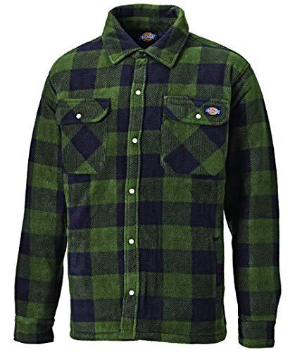 Dickies Thermohemd Portland SH5000, gefüttertes Hemd im Holzfällerlook, optimal für Herbst & Winter (Grün, L)