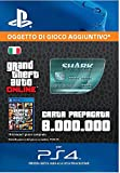 Grand Theft Auto Online - GTA V Cash Card | 8,000,000 GTA-Dollars | Codice download per PS4 - Account italiano