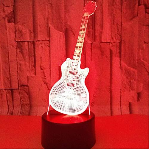 Zfkdsd 3D Led Nachtlicht Musikinstrumente Gitarre Mit 7 Farben Licht Für Heimtextilien Lampe Erstaunliche Visualisierung Optisch - Erstaunlich, Musikinstrumente