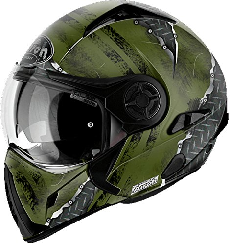 Casco Modulare Airoh J106 Crude - Green Matt / Yellow Matt (S, Green Matt)