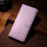 Qiaogle Teléfono Case - Funda de PU Cuero Billetera Clamshell Carcasa Cover para Wiko Wax 4G (4.7 Pulgadas) - FC08 / Pink Moda Elegante estilo