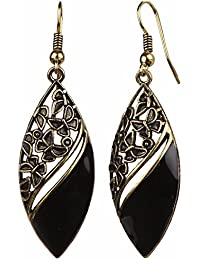 Efulgenz Oxidised Black Fancy Party Wear Danglers Earrings For Girls And Women