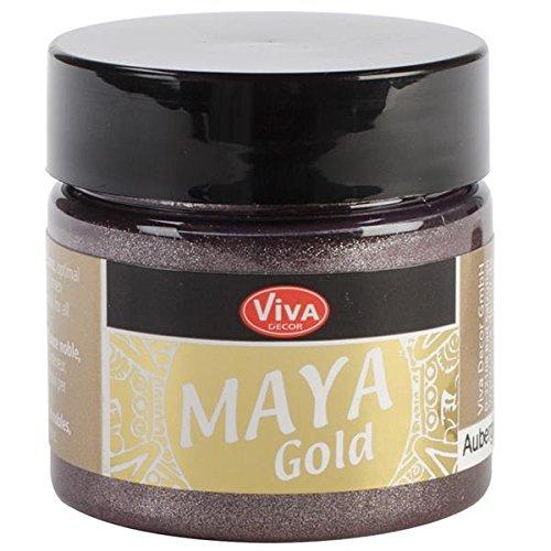 Viva Decor Acryl Maya Gold 50ml-aubergine - Lagerung Auberginen