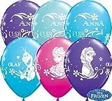 Luftballons Frozen Eisprinzessin, sortiert, Qualatex, ca. 30 cm, 10 St.