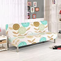 Fastar funda de clic-clac elástica, funda cubre protector sofá de 3 plazas,Impresión floral (D)
