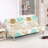 Abdeckungen für Sofas ohne Armlehnen mit Blumenmustern, Polyester Spandex Stoffbezüge, passend für Klappsofas ohne Armlehnen D