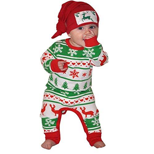 hibote Network technology Ltd Baby Strampler Niedlich Overall Jumpsuit - hibote Neugeborene Cartoon Baby Strampelanzug mit Kapuze Für Weihnachten, Silvester, Ostern