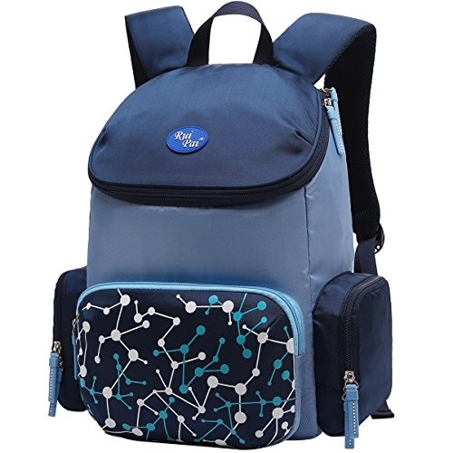 (Vbiger Schulrucksack Kinder Rucksäcke Schulranzen Schultasche Tasche für Jungen und Mädchen Dunkelblau)