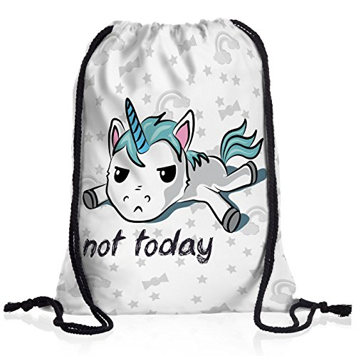 style3 Not Today Unicorn Einhorn Rucksack Tasche