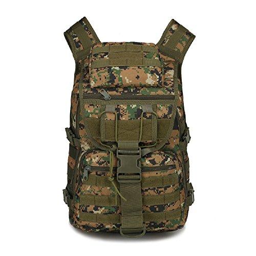 40L campeggio borsa uomo Outdoor impermeabile 3P Tad Militare Zaino Tattico Zaino Grande Assault–Borsa sacca da viaggio, Black CP camo
