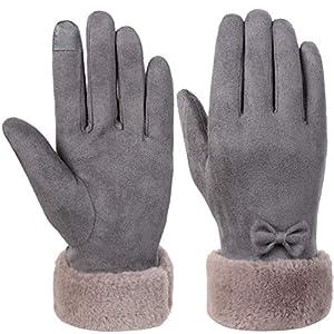 VBIGER Damen Winter Handschuhe Touchscreen Handschuhe Erweiterte Eleganz Verdickt Kalt Wetter Handschuhe Casual Handschuhe für Party Wandern Reisen Und Radfahren