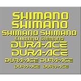 PEGATINAS SHIMANO DURA-ACE R227 STICKERS AUFKLEBER DECALS AUTOCOLLANTS ADESIVI (AMARILLO)