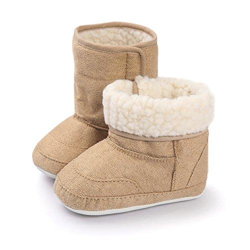 Matt Keely Baby Jungen Mädchen Schneestiefel Kleinkind Winter warme Schuhe Khaki (Kleinkind-jungen-schnee-stiefel)
