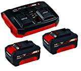 Einhell Original Starter Kit Akku und Ladegerät Power X-Change, 18 V, 2x3,0 Ah Akku