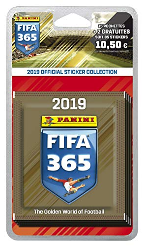 Panini-15 Pochettes + 2 offertes Panini FIFA 365 2018-2019, 2422-020