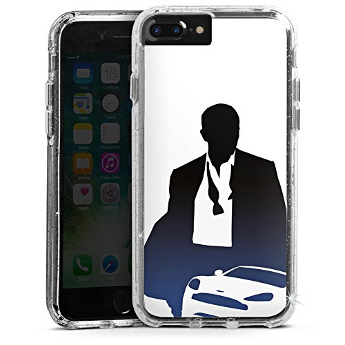 Apple iPhone 6s Plus Bumper Hülle Bumper Case Glitzer Hülle James Bond 007 Bumper Case Glitzer silber