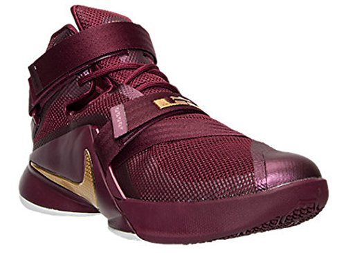 Nike Lebron Soldier Ix Prm, Sneaker uomo Deep Garnet/Metallic Gold