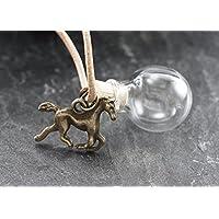 Wunschkugel Pferd mini bronze befüllbar personalisiert