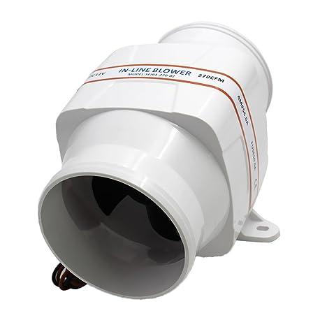 Sharplace Ventilador de Sentina Marina Protecci n de Ignici n 12V 270 CFM para Barco RV