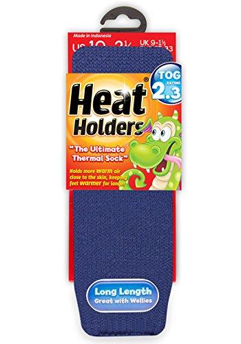 HEAT HOLDERS - Kinder Warme Winter Thermosocken in 8 Farben und 2 Größen (26-32 Eur, Marineblau) -