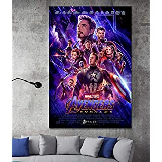 Avengers Endgame Comic Book Movie CANVAS Print - WALL ART - Framed Print - Ready To Hang - Handmade