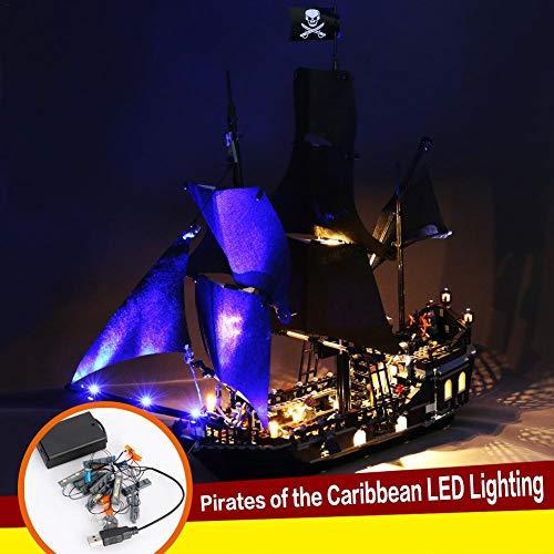 Pirati pirati illuminati zero pirati black pearl no. illuminazione a led compatibile con lego 418