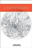 Poster 60 x 90 cm: Saarbrücken Karte Kreis von Campus