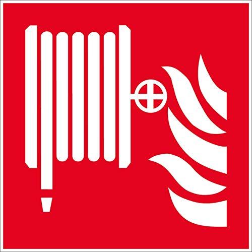 Lance incendie - Autocollant vinyl waterproof - L.150 x H.150 mm