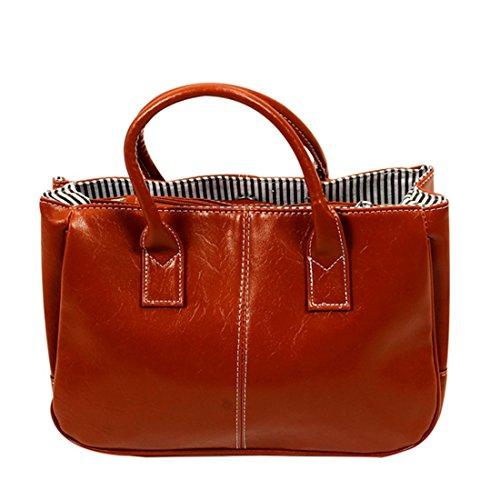 SODIAL (R) Bellezza Vanita' scatola di trucco cosmetico della cassa smalto immagazzinaggio Make up Box (Plain Nero) Marrone chiaro