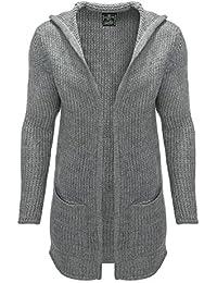 Key Largo Herren Cardigan Strickjacke Strickpullover Long Pullover Jacke