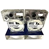 Neouza 2pk Compatible pour Epson LabelWorks étiquette Tape Cartridge Largeur 12 mm 1/5,1 cm LC-4WBN9 Black on White...
