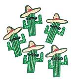 MAXGOODS 5 Stk DIY Bart Kaktus Stickerei Applique Patches Nähen Eisen auf Stoff Handwerk Tasche Tuch Dekor
