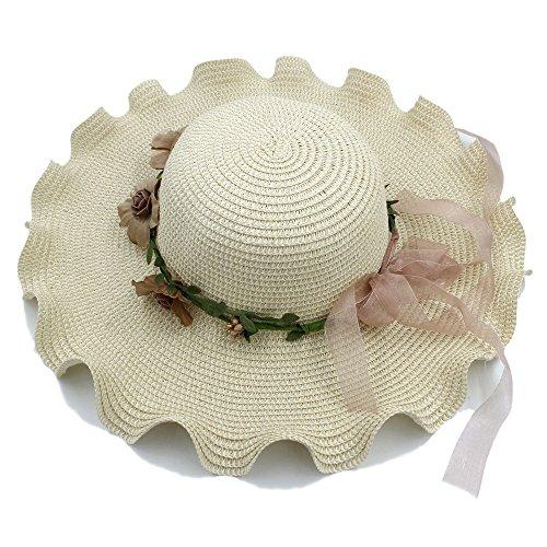 HYF Sombrero de Paja de Las Mujeres Gorra Olas Grandes ala Ancha Verano de  Hawaii Playa 1657909d5be6