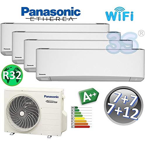 MULTI 4x klimagerät 2+2+2+3.5 Kw ETHEREA PANASONIC Klimaanlage A++ R32 WiFi