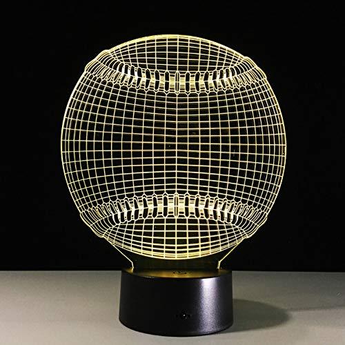 Modische Tragbare 3D Schlaf Baseball 3D Licht Hut Sport 7 Farbwechsel Led Nacht Touch Schreibtisch Tischlampe Kind Kind Schlaf