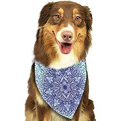 Bandana para Perro, diseño psicodélico con Mandala Impresa, Accesorio Festivo para Cachorros