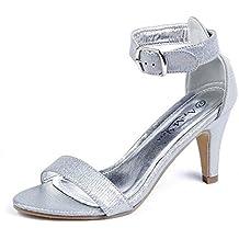 AgeeMi Shoes Mujeres Sandalias Tacón Alto Punta Abierta Elegante Verano Zapatos