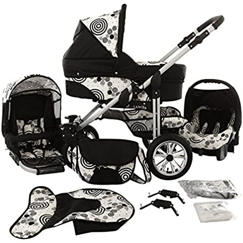 Chilly Kids Matrix Lancer 3 in 1 Cochecito Combinado (asiento del coche, cubierta para la lluvia, mosquitero, ruedas giratorias 14