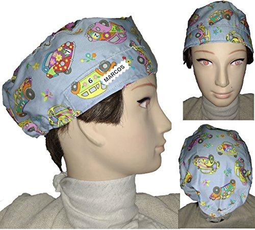Surgical scrub caps, Haube, kochmütze, Medizinische Kappen. KINDERWAGEN. Für kurze Haar. Krankenpflege, ZAHNÄRZTE, Veterinär-, Küche, Gebäck und andere Fachleute. PERSONALISIERTE MIT NAMEN, ohne Kosten. WRITE NAME IN OPTIONS (Kurzen Medizinische)