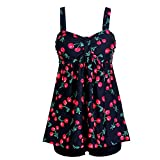 Laorchid Damen Tankini Badeanzug Two Piece Push Up Bademode bügellos bauchweg #3 XXXL