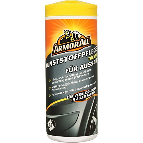 Armor All Kunststoffpflegetücher aussen 30 Stk. GAA84030GE, farbauffrischend + schützt vor Verwitterung