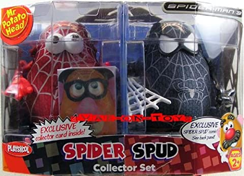 MR POTATO HEAD SPIDER SPUD RED SPIDER & BLACK SPIDER-MAN SET
