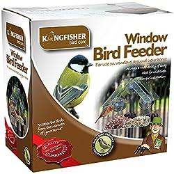 Comedero de pájaros para ventana King Fisher