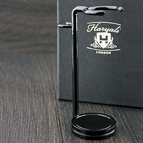 Blaireau et rasoir Fabriqué en acier inoxydable de couleur noire. Parfait pour tous les types de brosses et de rasoirs.