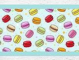 "I-love-Wandtattoo b-10120 Küchenbordüre ""Macaron"" Bordüre Küche Deko Wanddeko"